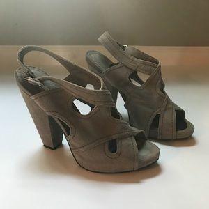 Marco Santi MC-Nancy heel sandal gray suede